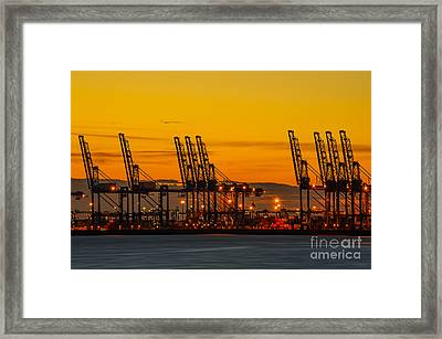 Port Of Felixstowe Framed Print