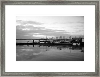 Port Of Harwich Framed Print