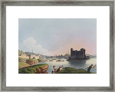 Port Of Latachia, In Syria, From Views Framed Print by Luigi Mayer