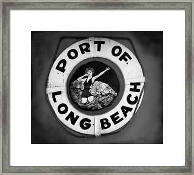 Port Of Long Beach Life Saver By Denise Dube Framed Print
