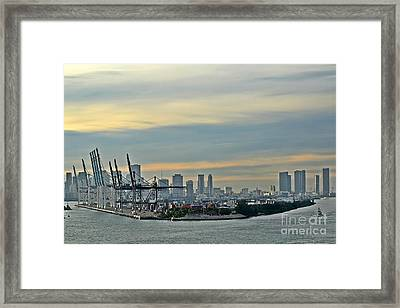 Port Of Miami Framed Print