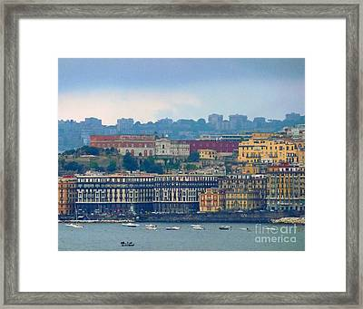 Port Of Napoli Framed Print