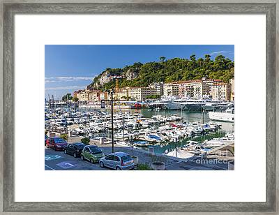 Port Of Nice In France Framed Print
