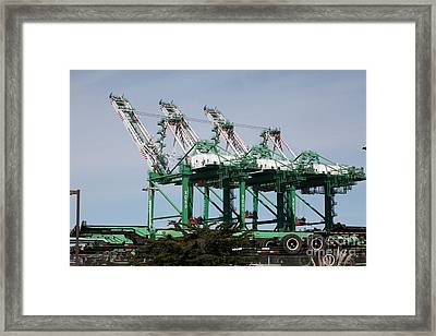 Port Of Oakland 5d22265 Framed Print by Wingsdomain Art and Photography