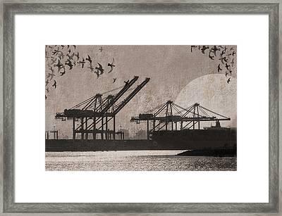 Port Of Oakland Framed Print by Cori Pillows