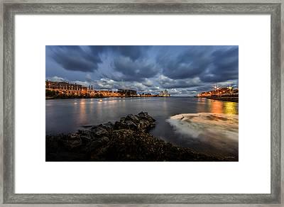Port Of Oswego Framed Print by Everet Regal