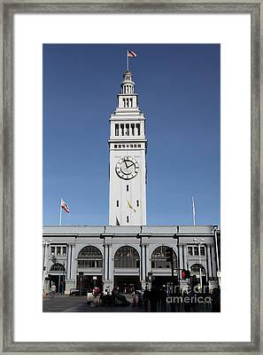 Port Of San Francisco Ferry Building On The Embarcadero - 5d20756 Framed Print
