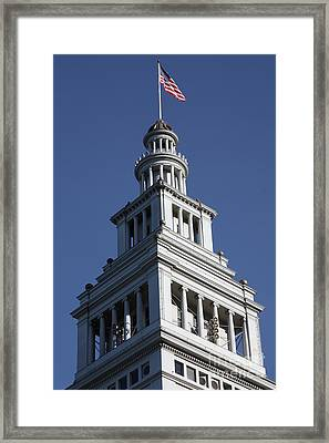 Port Of San Francisco Ferry Building On The Embarcadero - 5d20771 Framed Print