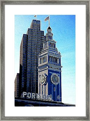 Port Of San Francisco Ferry Building On The Embarcadero 5d20834 Artwork Framed Print