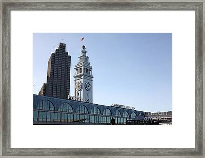 Port Of San Francisco Ferry Building On The Embarcadero - 5d20835 Framed Print