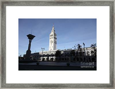 Port Of San Francisco Ferry Building On The Embarcadero - 5d20840 Framed Print