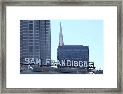 Port Of San Francisco Ferry Building On The Embarcadero 5d29446 Framed Print