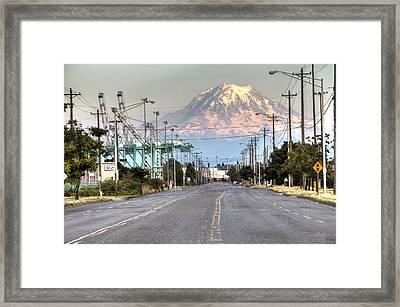 Port Of Tacoma Framed Print