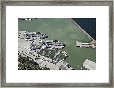 Port Of Visby Framed Print