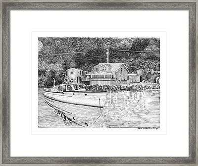 Port Orchard Washington Waterfront Home Framed Print