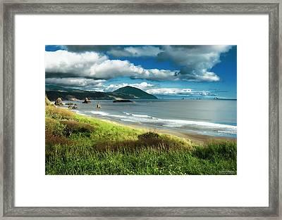 Port Orford Oregon Framed Print by Rafael Escalios