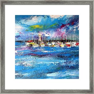 Port Reflections Framed Print