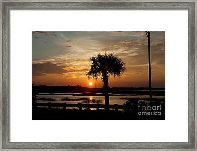 Port Royal Sunset Framed Print by Scott Hansen