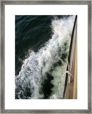 Port Side Crusing On Casco Bay Framed Print by Patricia E Sundik