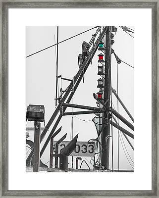 Port Starboard And At Anchor Selective Color Framed Print by Scott Campbell