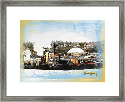 Framed Print featuring the photograph Port Tacoma Dome by Sadie Reneau