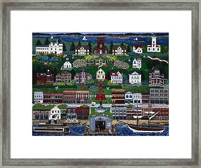 Framed Print featuring the painting Port Townsend by Jennifer Lake