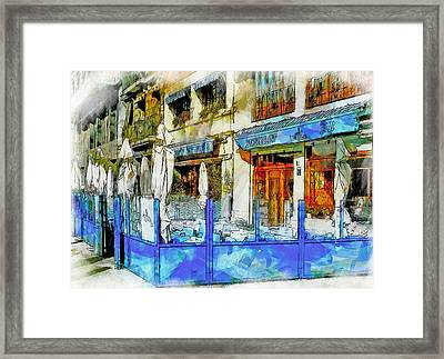 Port Vell Seafood Place In Barcelona Framed Print
