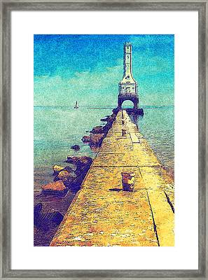 Port Washington Brakewall Framed Print