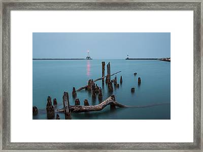 Port Washington Harbor Framed Print