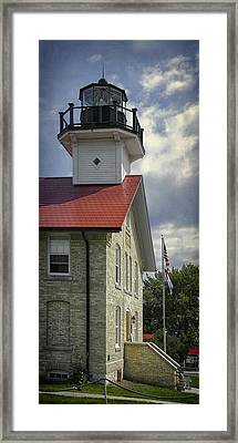 Port Washington Light Station Framed Print by Joan Carroll