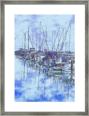 Milwaukee Lakefront Marina Framed Print