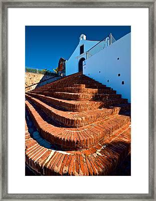 Framed Print featuring the photograph Porta Coeli Steps by Ricardo J Ruiz de Porras