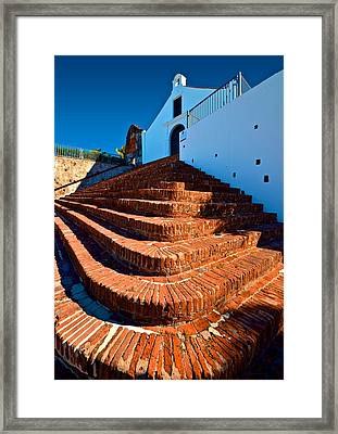 Porta Coeli Steps Framed Print