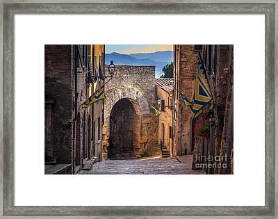 Porta Dell'arco Framed Print by Inge Johnsson
