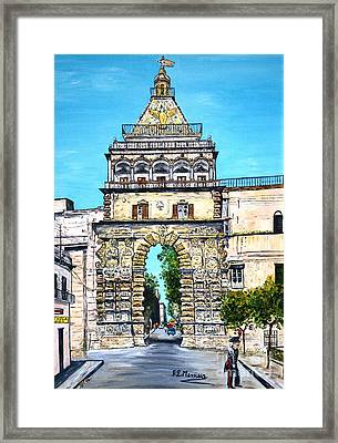 Porta Nuova - Palermo Framed Print by Loredana Messina