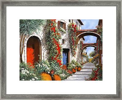 Porta Rossa Porta Blu Framed Print by Guido Borelli