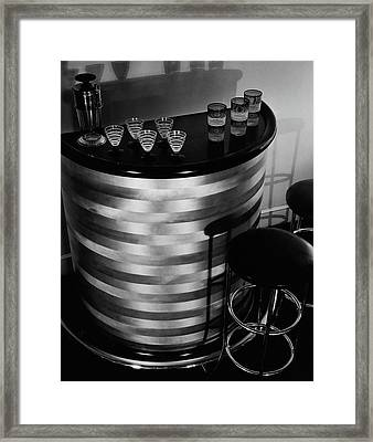 Portable Bar Framed Print by Martinus Andersen