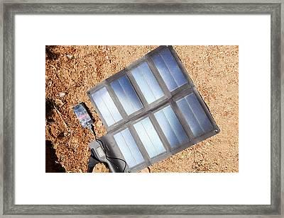 Portable Solar Mat Framed Print by Ashley Cooper