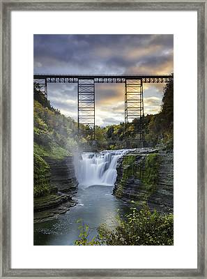 Portage Bridge Framed Print by Sara Hudock