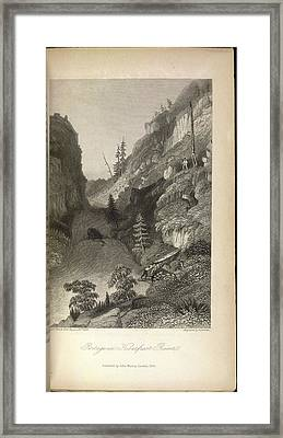 Portage In Hoarfrost River Framed Print by British Library