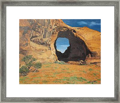 Portal At Window Rock  Framed Print