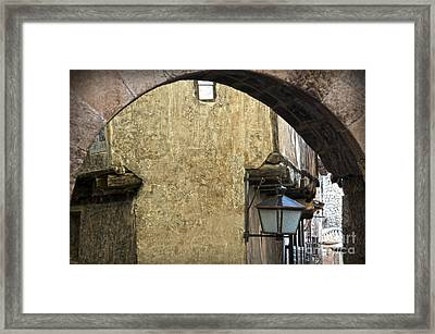 Portal De Molina And Casa De La Julianeta Framed Print by RicardMN Photography