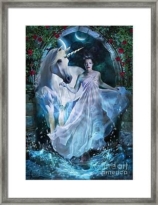 Portal Framed Print by Drazenka Kimpel