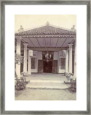 Portal Of A Chinese Temple In Ambon, Indonesia Framed Print by Artokoloro