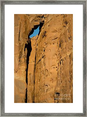 Framed Print featuring the photograph Portal Through Stone by Jeff Kolker