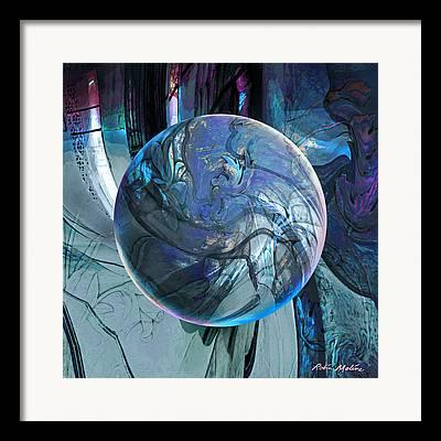 Portal Digital Art Framed Prints