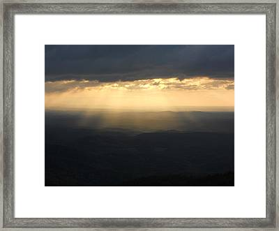 Portal To Heaven On The Blue Ridge Parkway Framed Print by Diannah Lynch