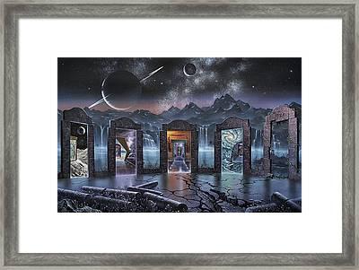 Portals To Alternate Universes, Artwork Framed Print