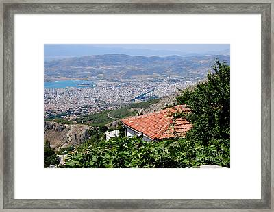 Portaria Roof Vista Framed Print by Andrea Simon