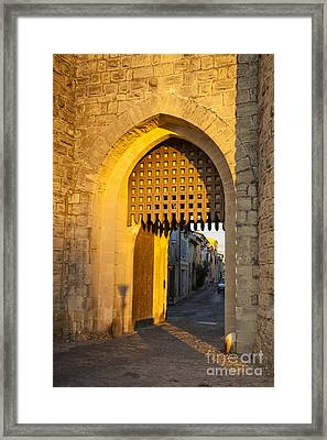 Portcullis Aigues-mortes  Languedoc-roussillon France Framed Print by Colin and Linda McKie